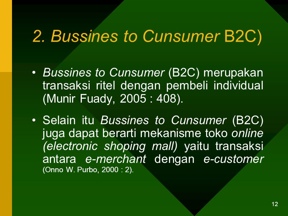 2. Bussines to Cunsumer B2C)