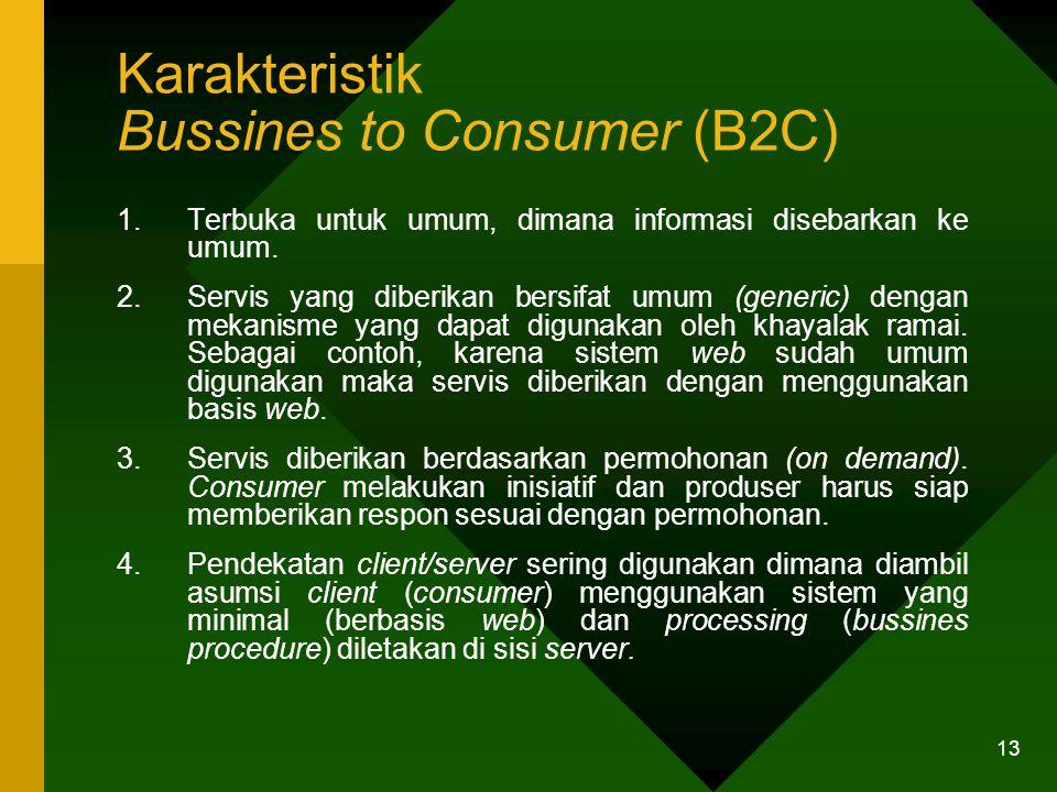 Karakteristik Bussines to Consumer (B2C)