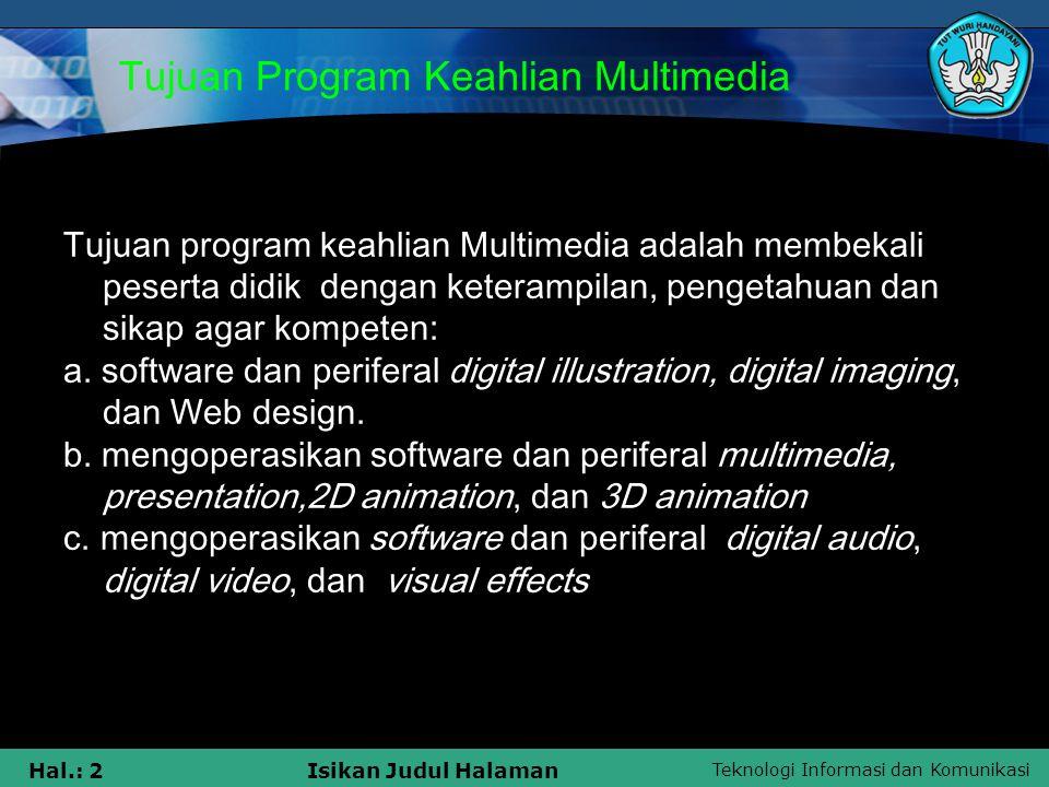 Tujuan Program Keahlian Multimedia