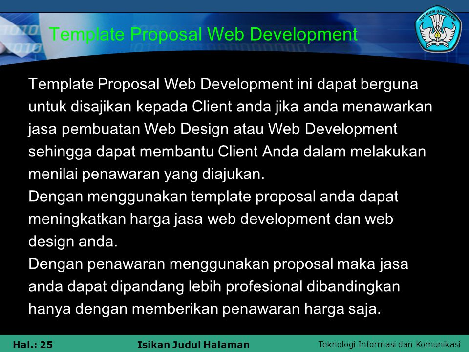 Template Proposal Web Development