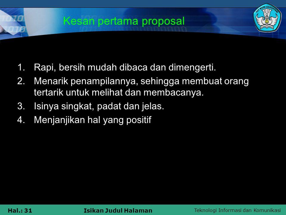 Kesan pertama proposal