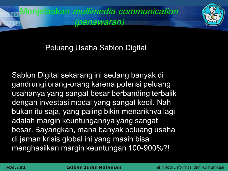Menjelaskan multimedia communication (penawaran)