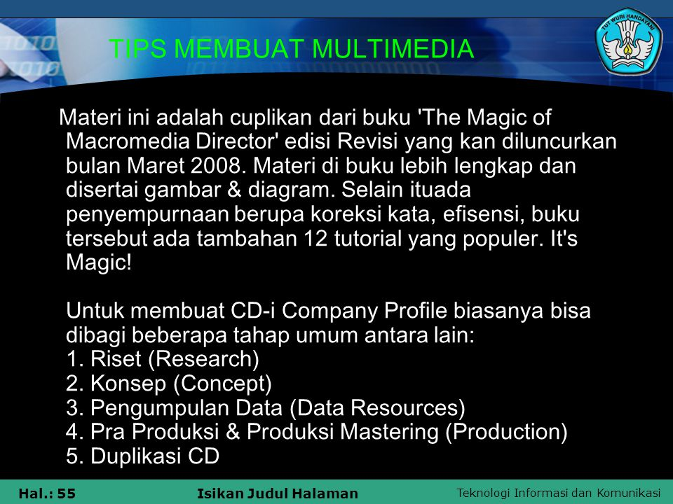 TIPS MEMBUAT MULTIMEDIA