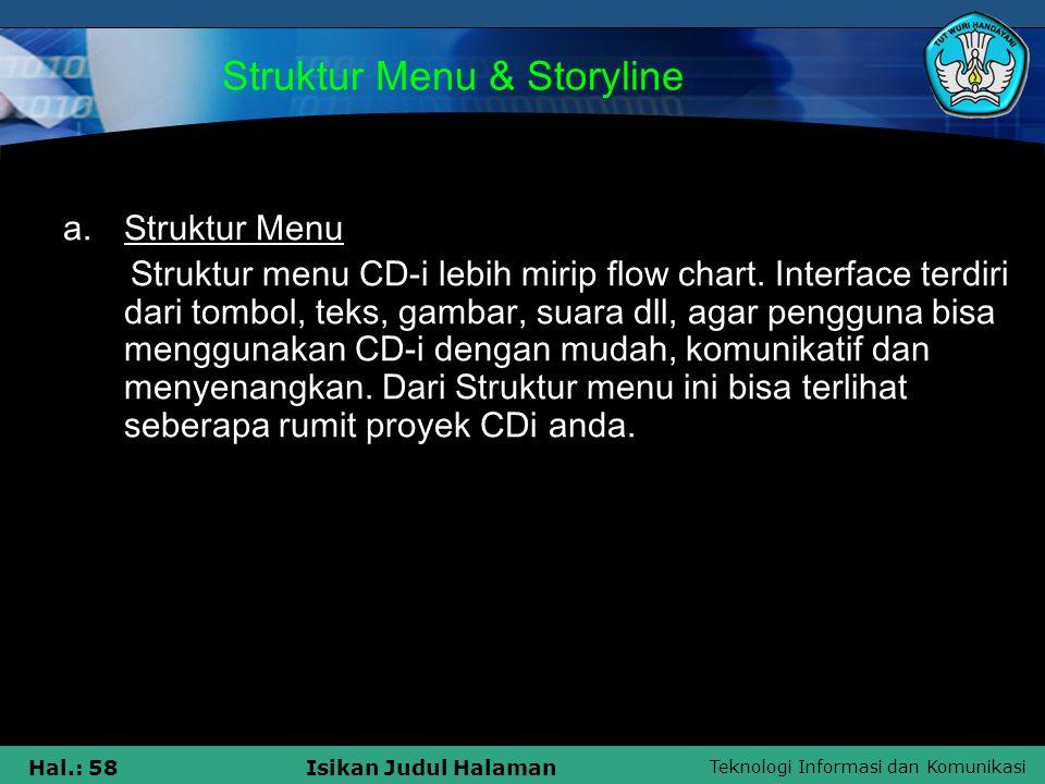 Struktur Menu & Storyline