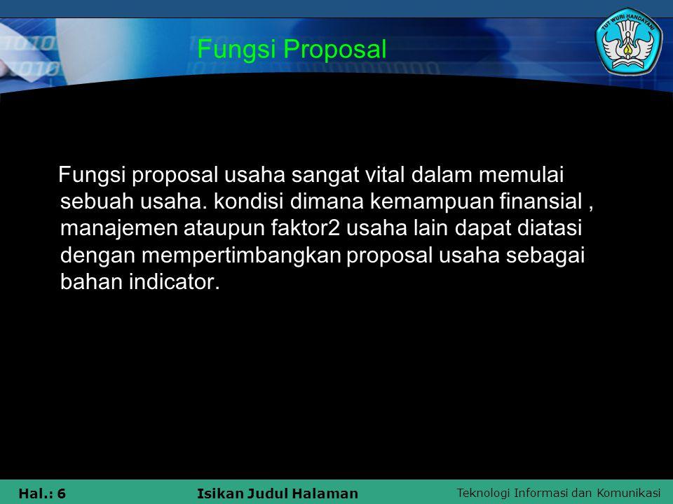 Fungsi Proposal