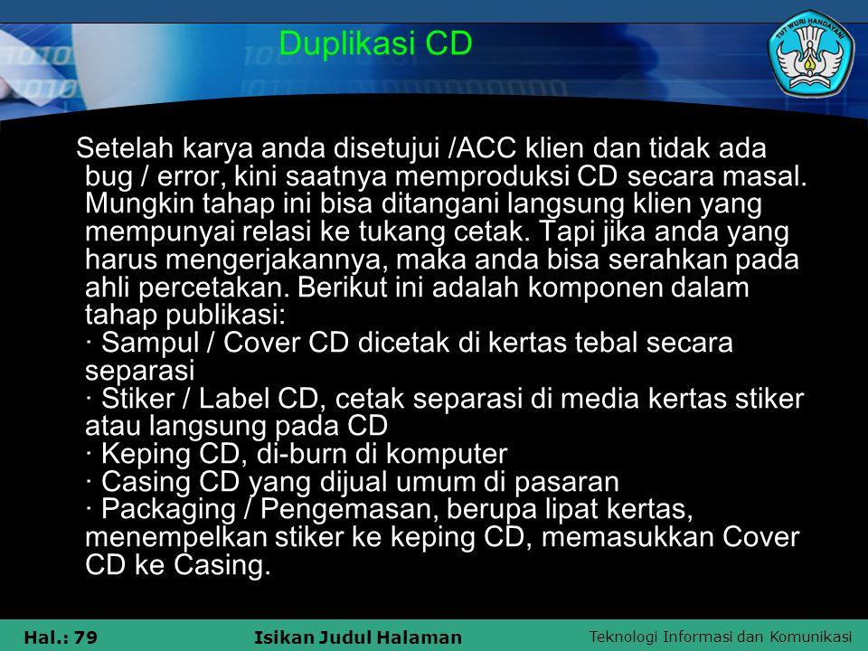 Duplikasi CD