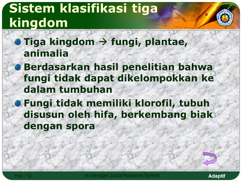 Sistem klasifikasi tiga kingdom