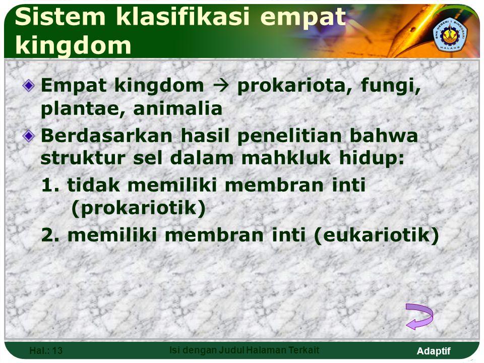 Sistem klasifikasi empat kingdom