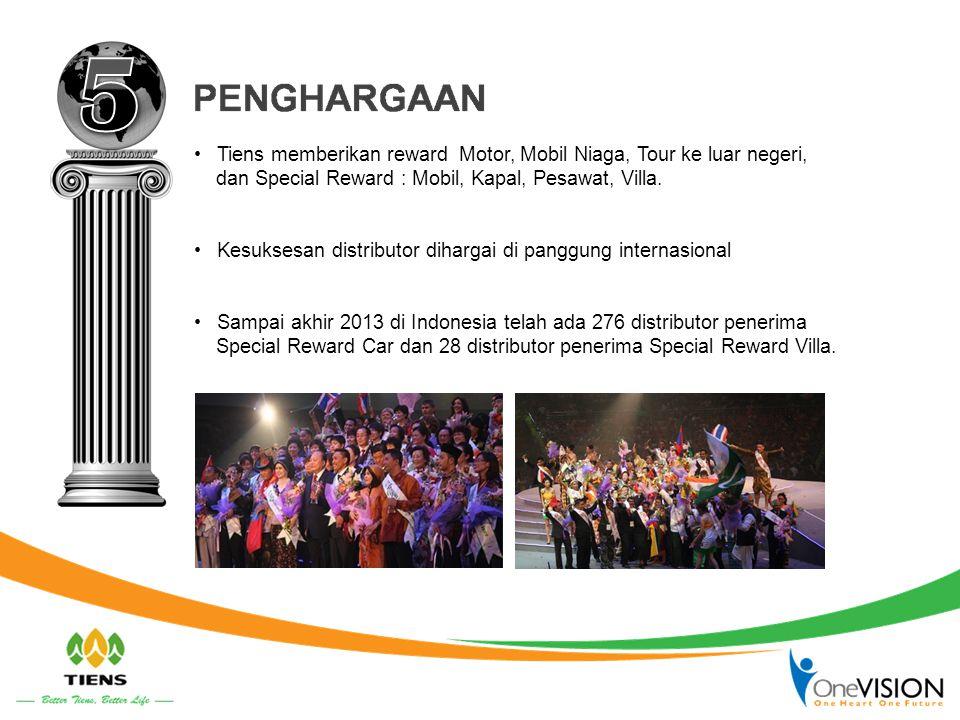 5 Tiens memberikan reward Motor, Mobil Niaga, Tour ke luar negeri,