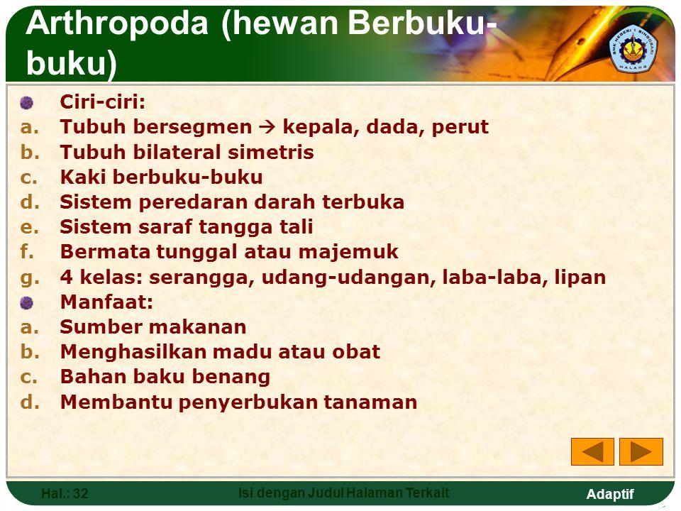 Arthropoda (hewan Berbuku-buku)