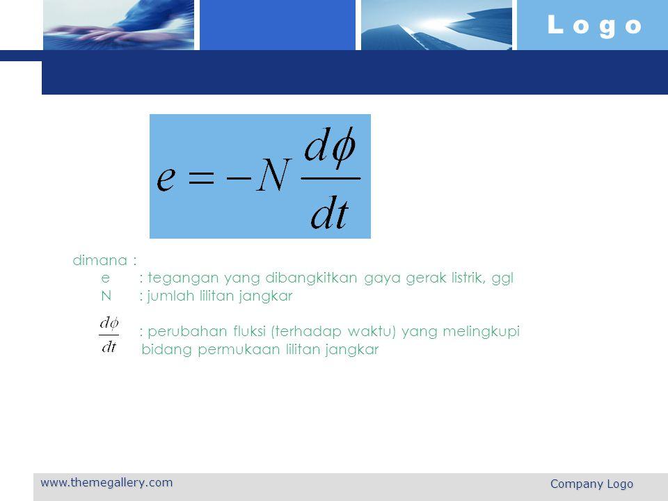 dimana : e. : tegangan yang dibangkitkan gaya gerak listrik, ggl N