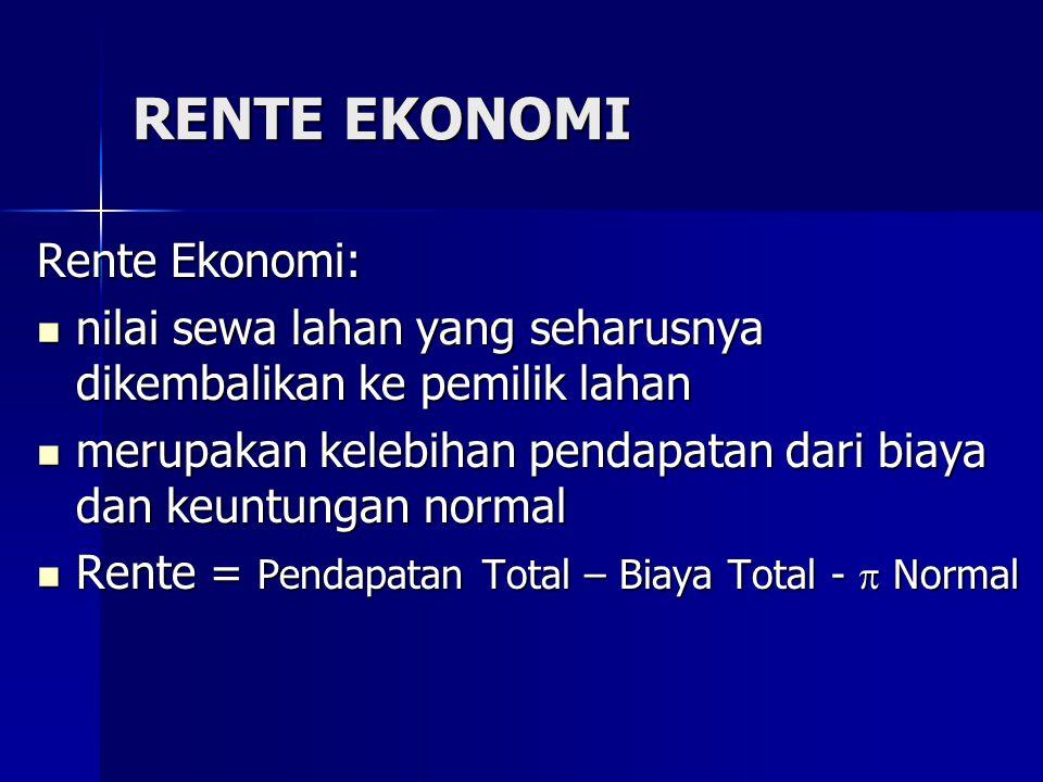 RENTE EKONOMI Rente Ekonomi: