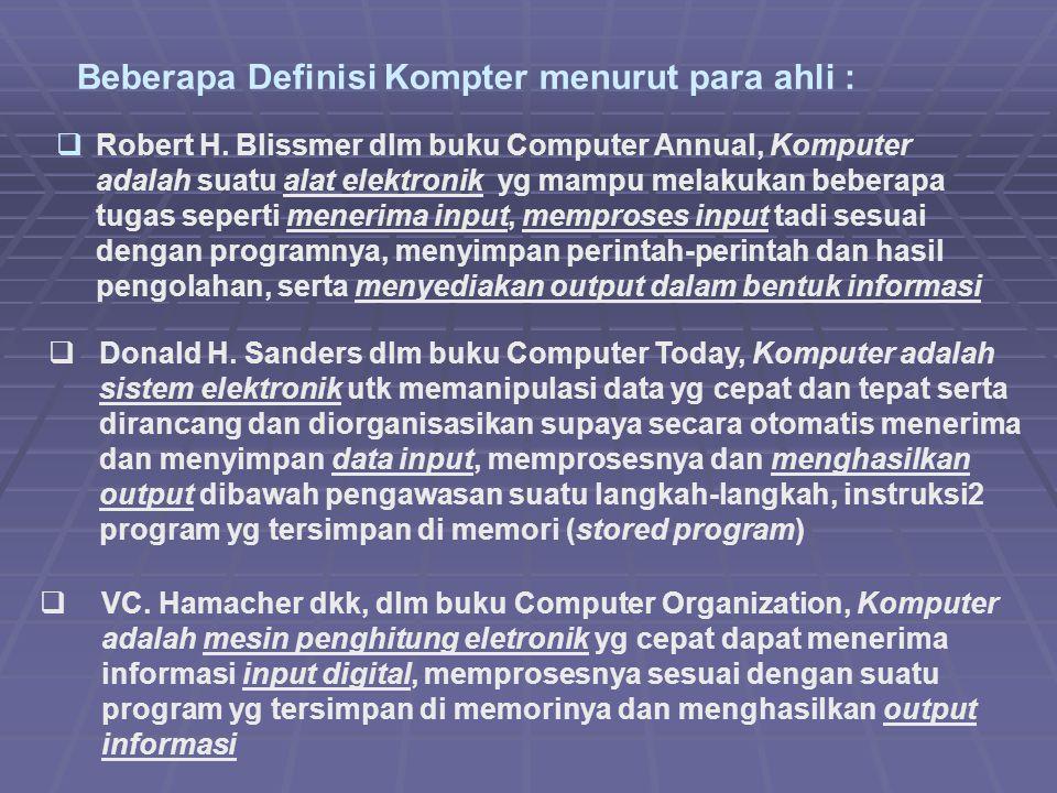 Beberapa Definisi Kompter menurut para ahli :