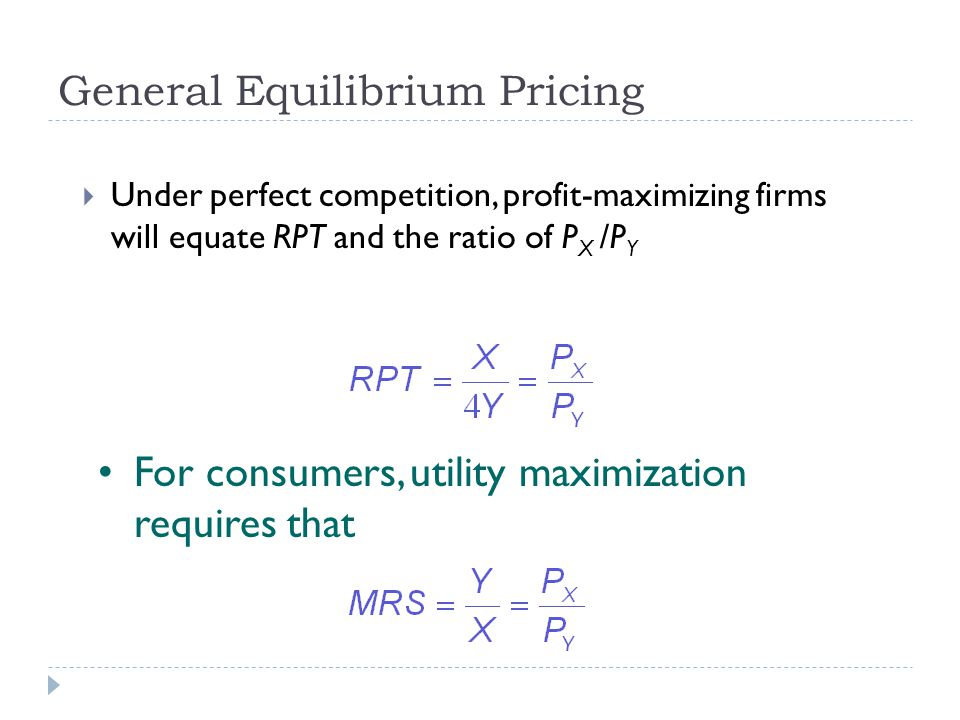 General Equilibrium Pricing
