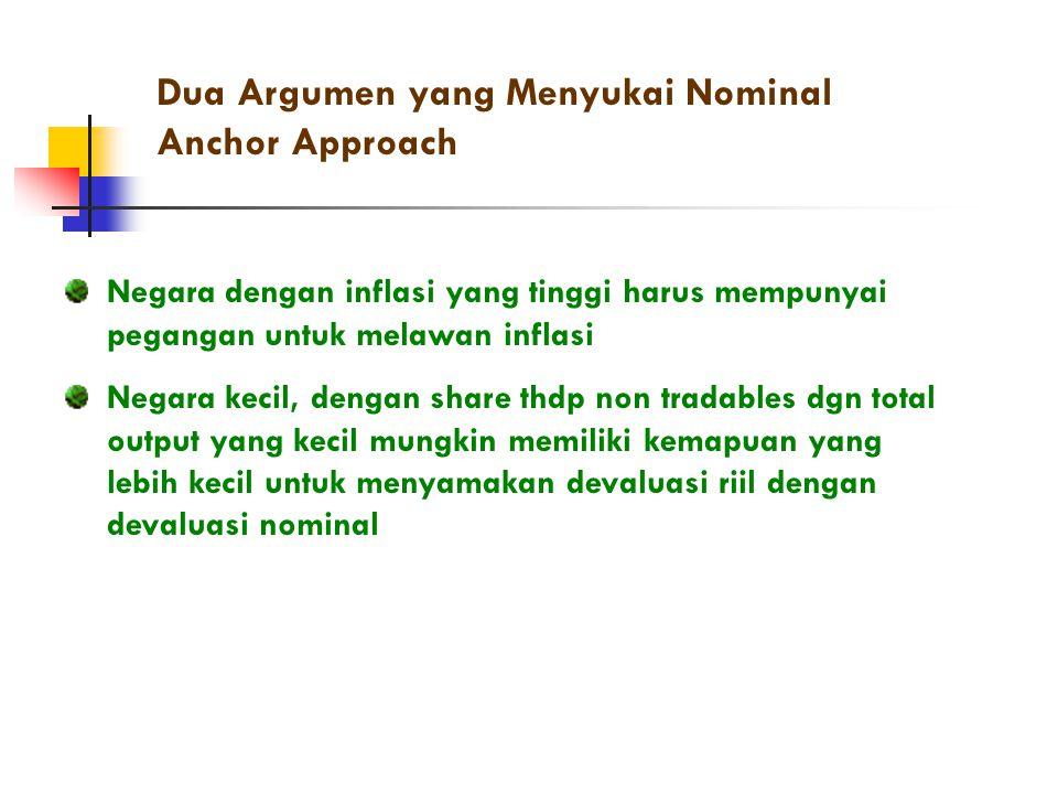 Dua Argumen yang Menyukai Nominal Anchor Approach