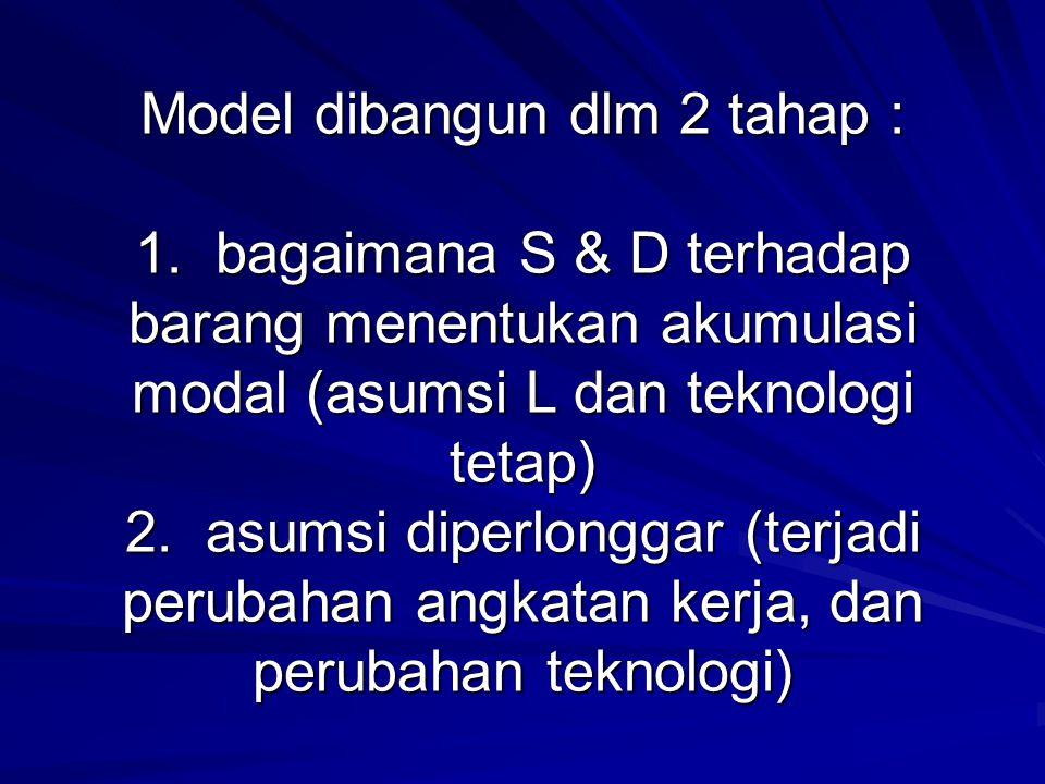 Model dibangun dlm 2 tahap : 1