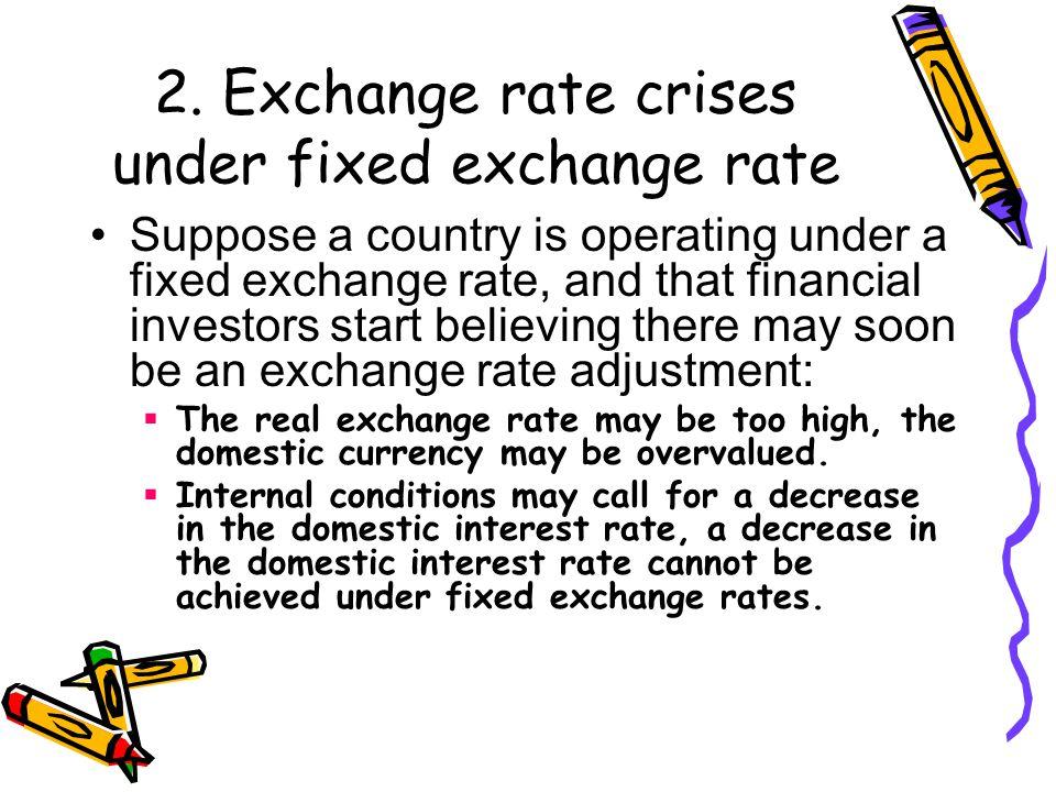 2. Exchange rate crises under fixed exchange rate