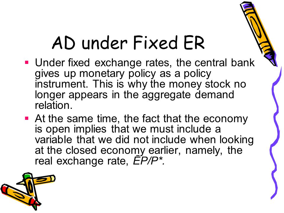 AD under Fixed ER