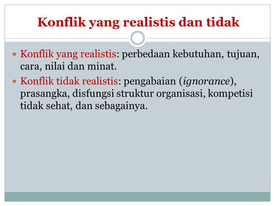 Konflik yang realistis dan tidak
