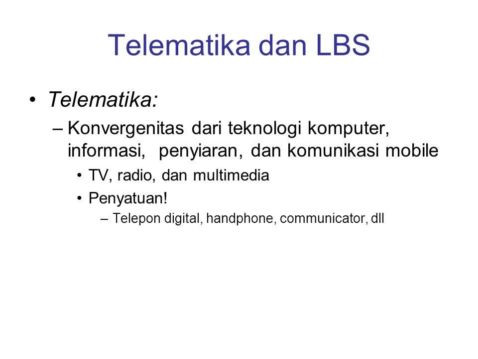 Telematika dan LBS Telematika: