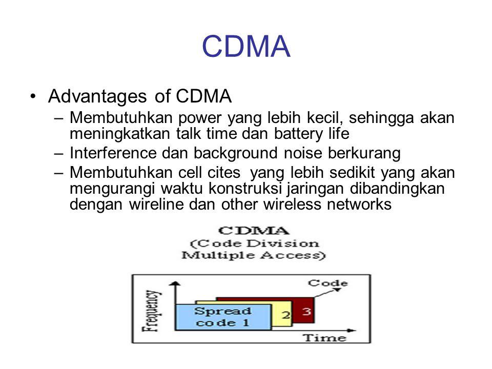 CDMA Advantages of CDMA
