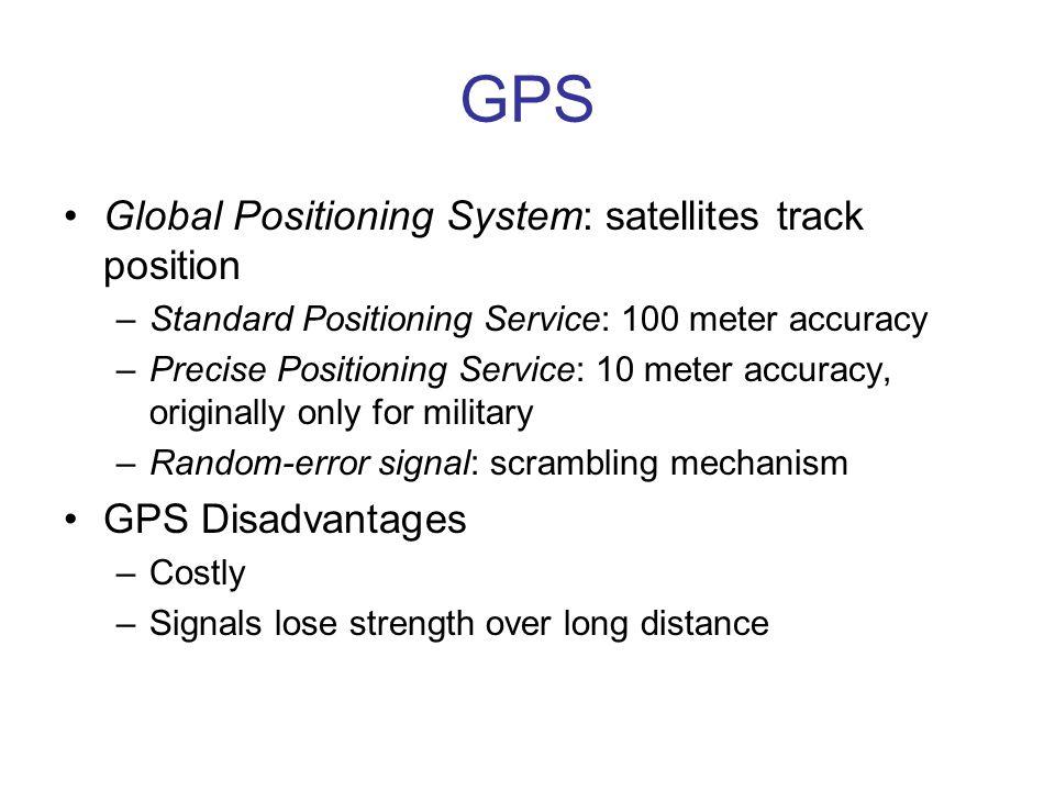 GPS Global Positioning System: satellites track position