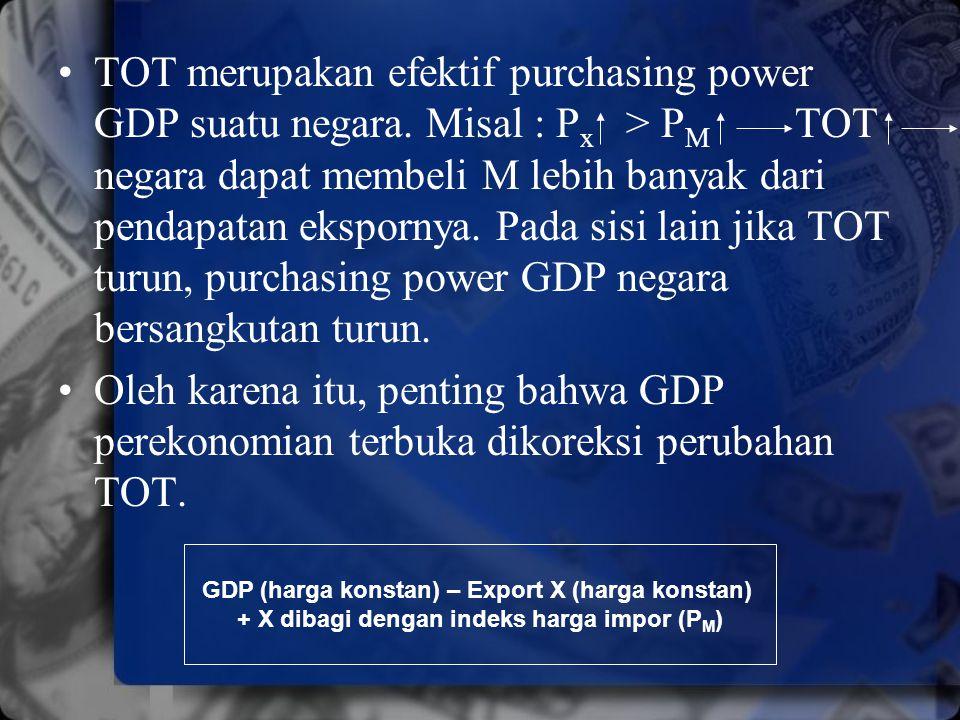 TOT merupakan efektif purchasing power GDP suatu negara