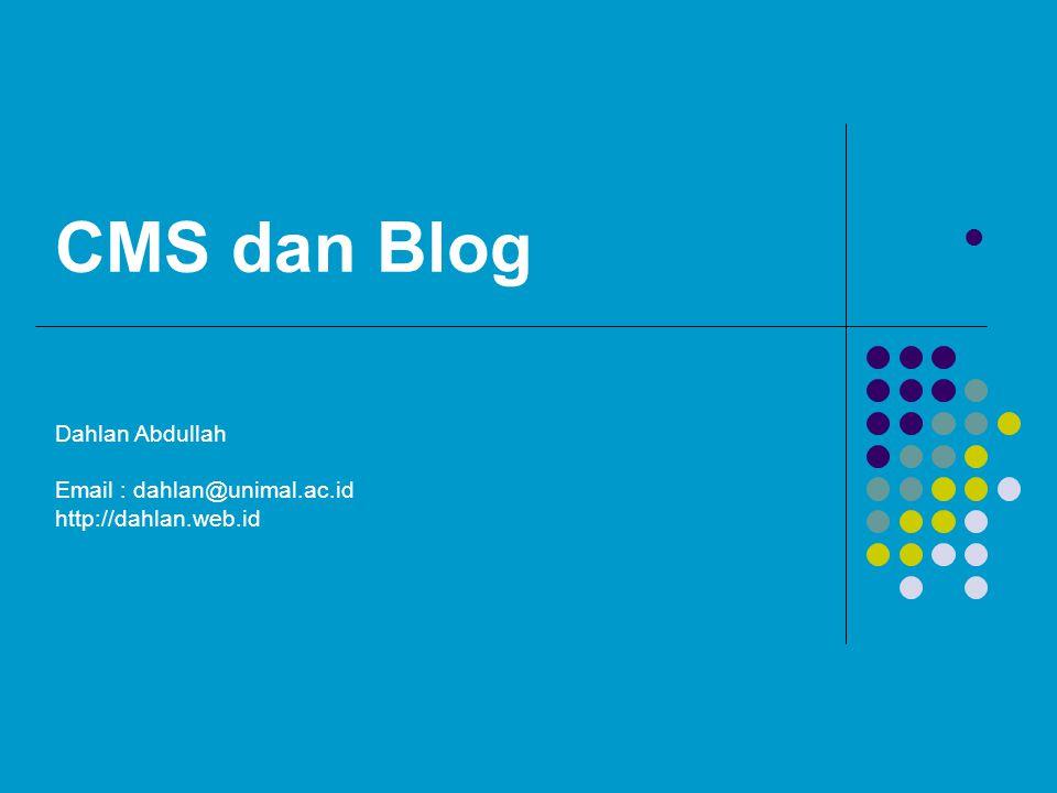 CMS dan Blog Dahlan Abdullah