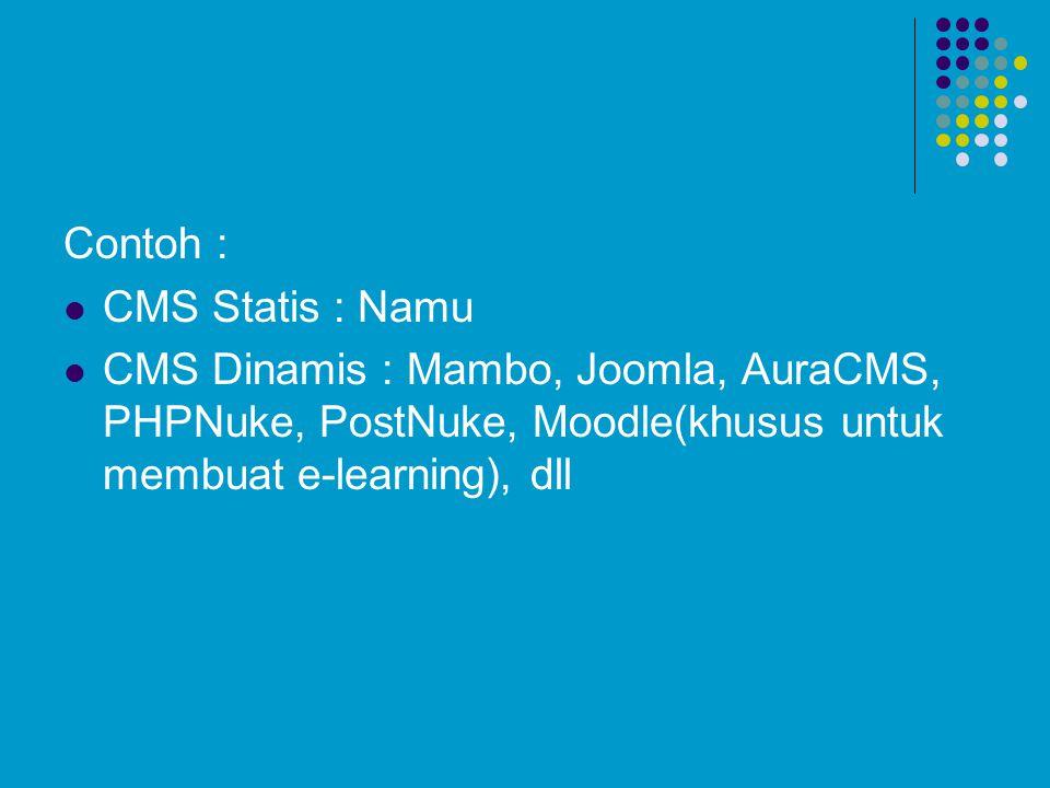 Contoh : CMS Statis : Namu.