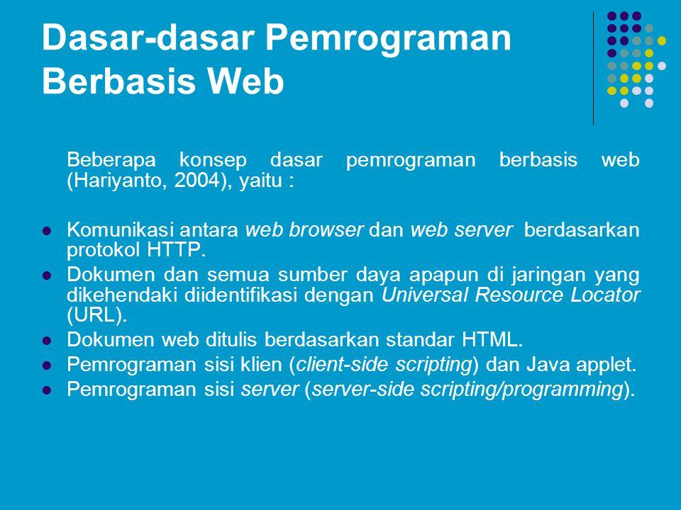 Dasar-dasar Pemrograman Berbasis Web