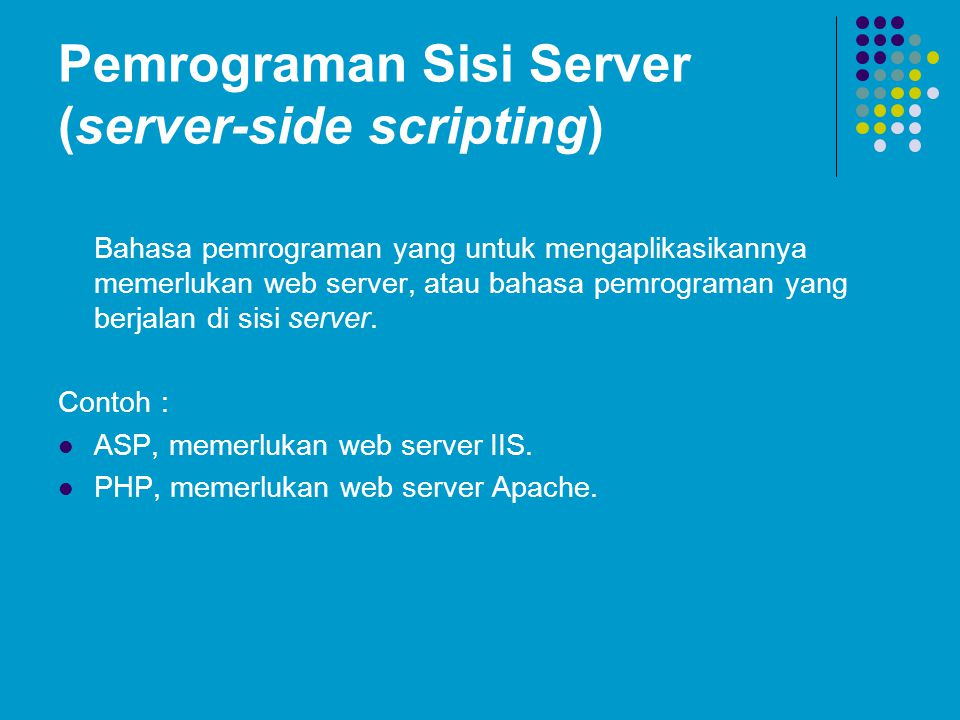 Pemrograman Sisi Server (server-side scripting)