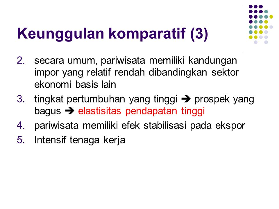 Keunggulan komparatif (3)