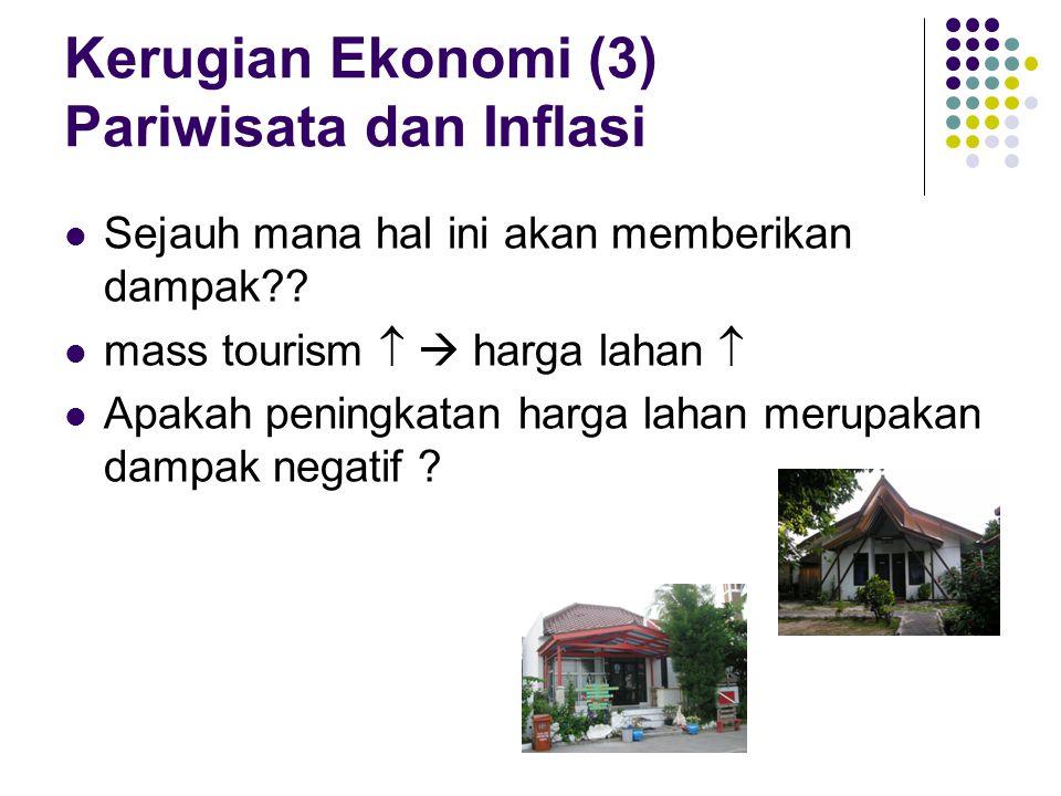 Kerugian Ekonomi (3) Pariwisata dan Inflasi