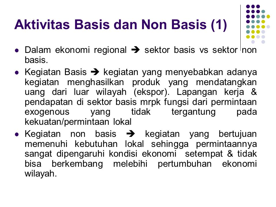 Aktivitas Basis dan Non Basis (1)