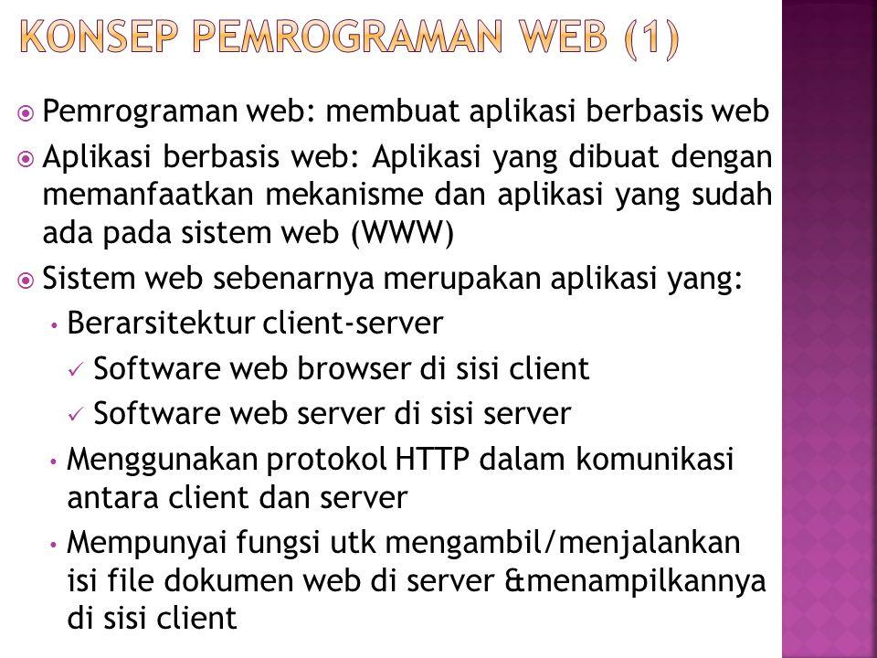 Konsep Pemrograman Web (1)