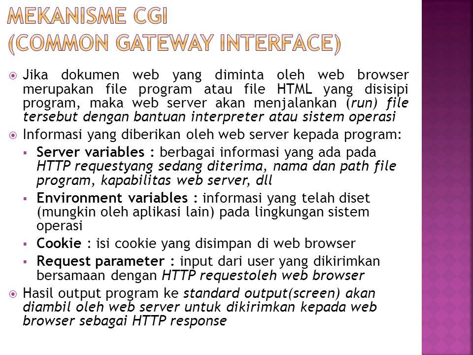 Mekanisme CGI (Common Gateway Interface)