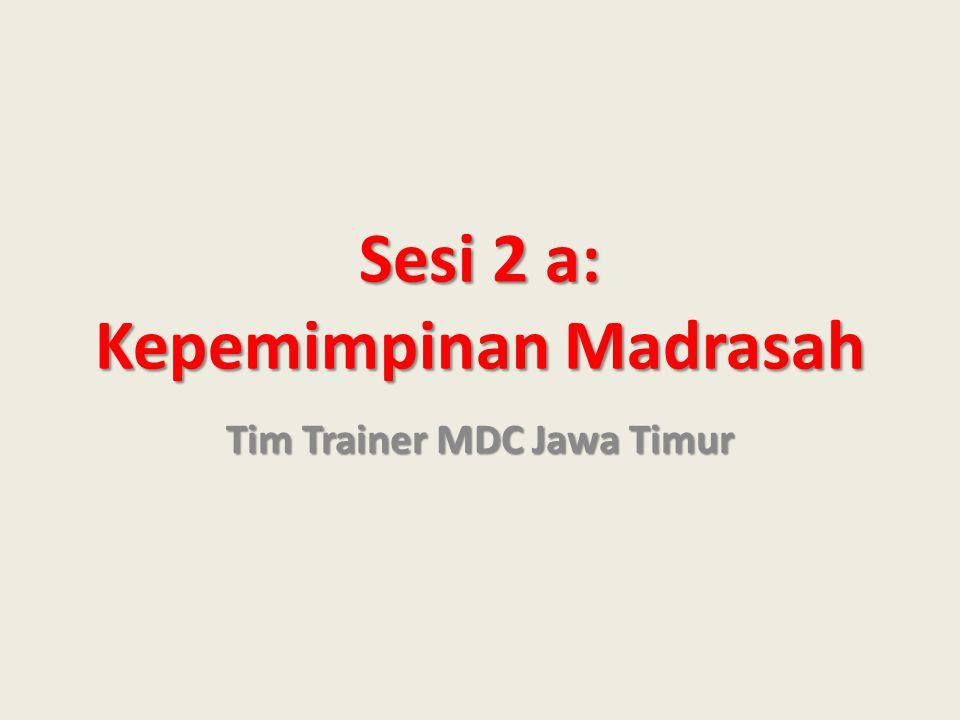 Sesi 2 a: Kepemimpinan Madrasah