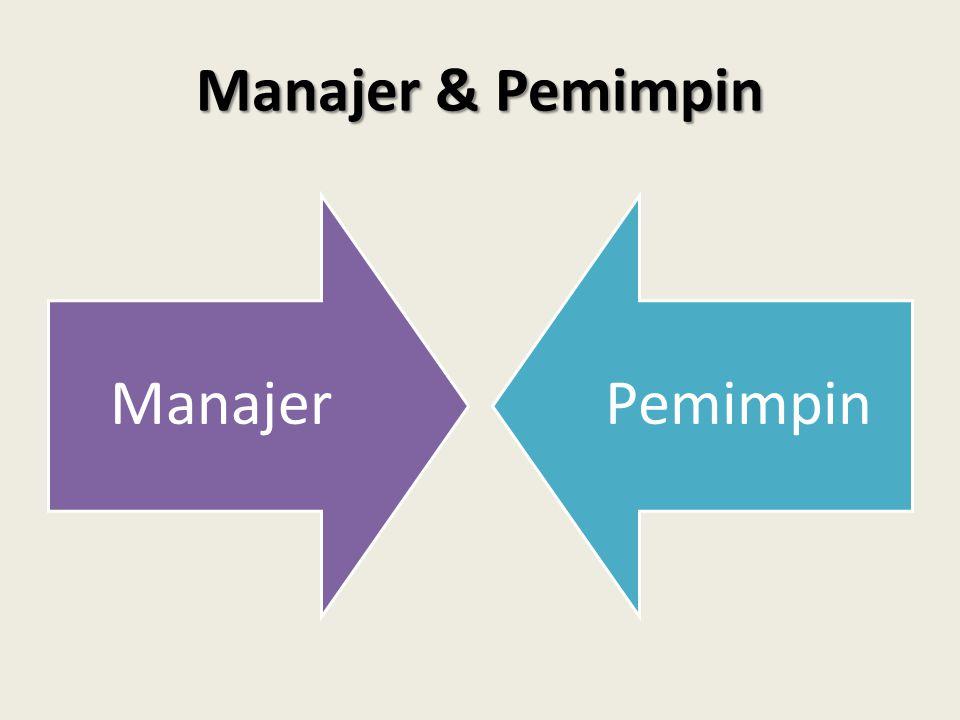 Manajer & Pemimpin Manajer Pemimpin
