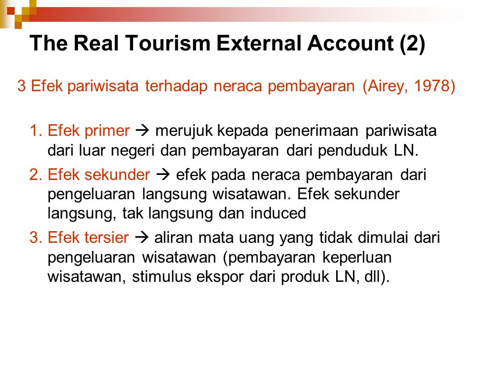 The Real Tourism External Account (2)