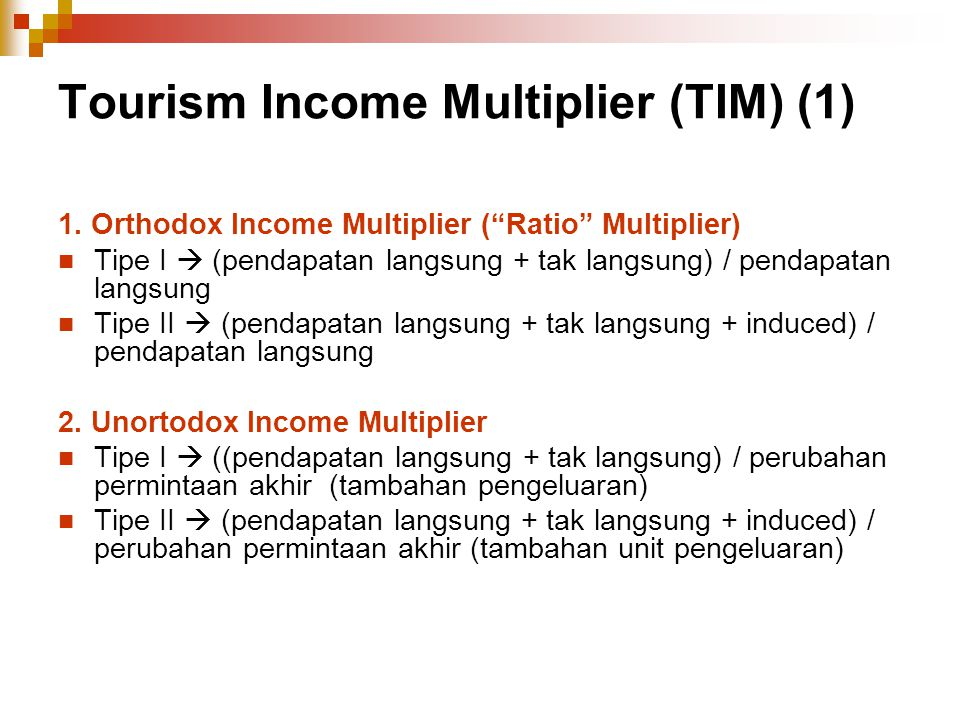 Tourism Income Multiplier (TIM) (1)