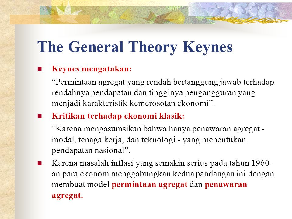 The General Theory Keynes