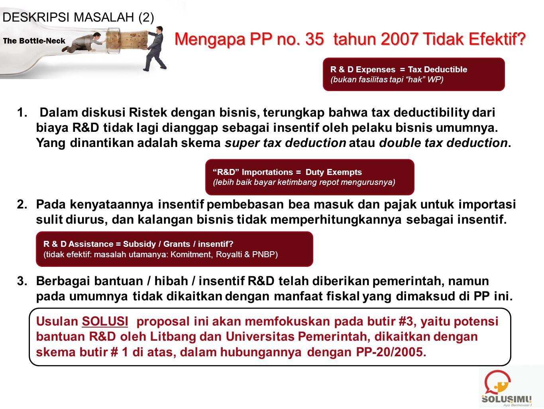 Mengapa PP no. 35 tahun 2007 Tidak Efektif