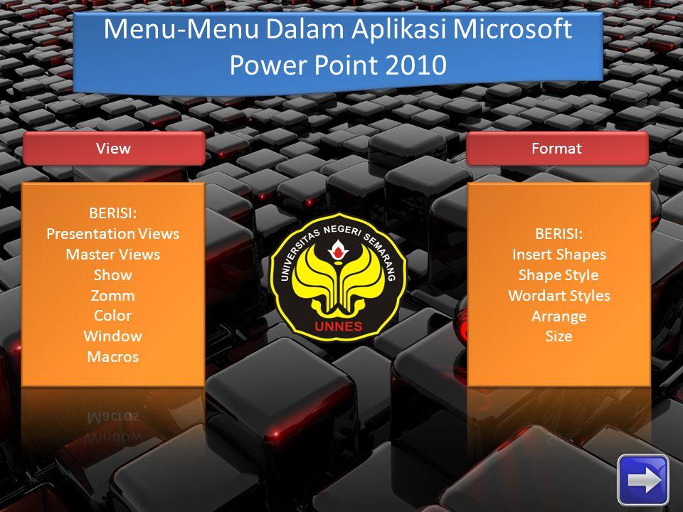 Menu-Menu Dalam Aplikasi Microsoft Power Point 2010