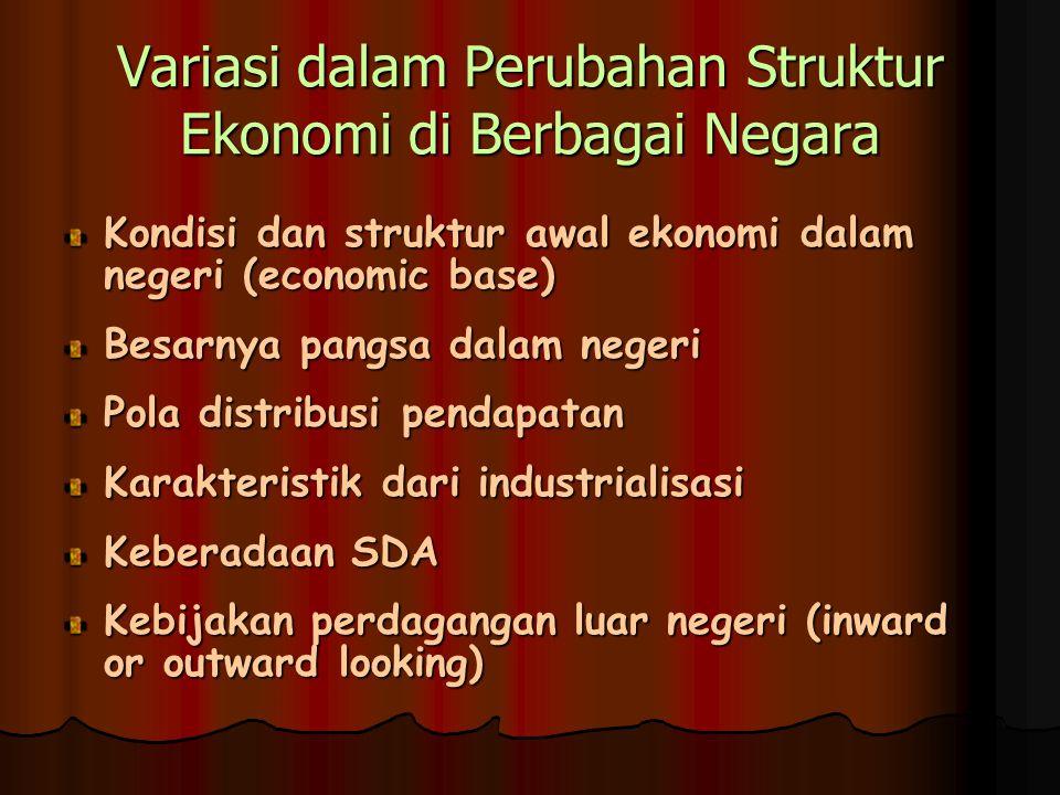 Variasi dalam Perubahan Struktur Ekonomi di Berbagai Negara