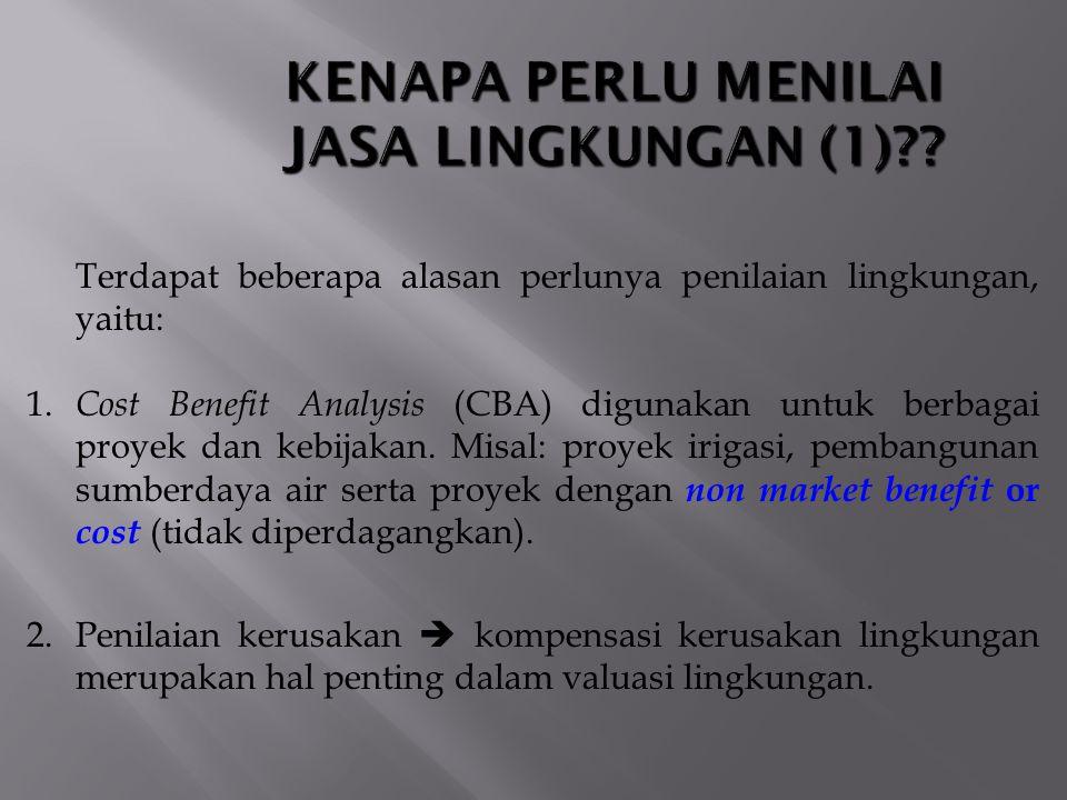 KENAPA PERLU MENILAI JASA LINGKUNGAN (1)