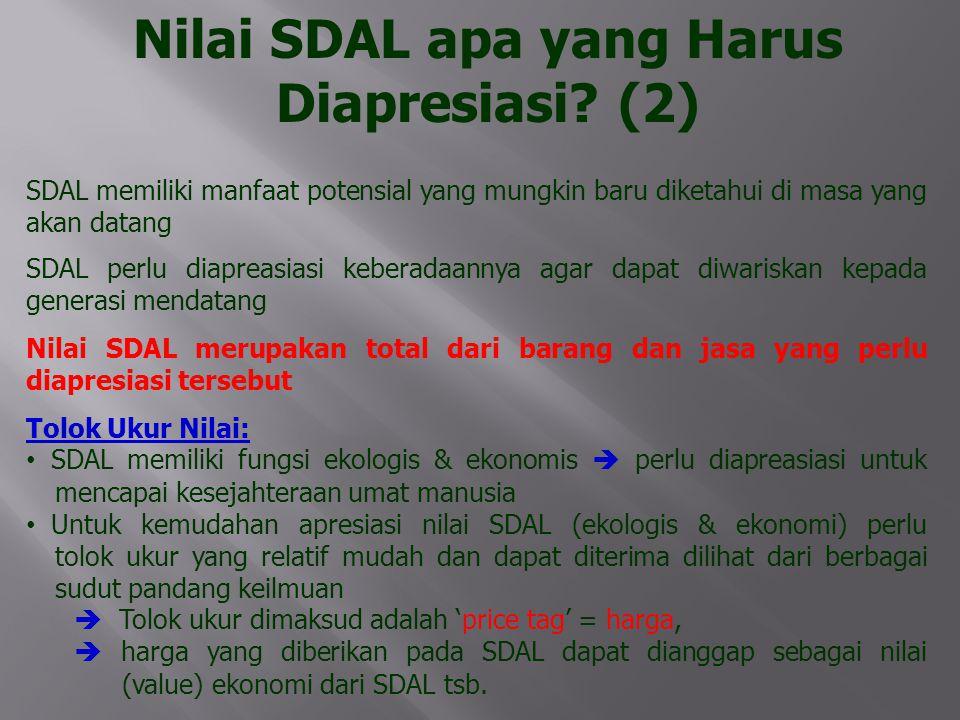 Nilai SDAL apa yang Harus Diapresiasi (2)