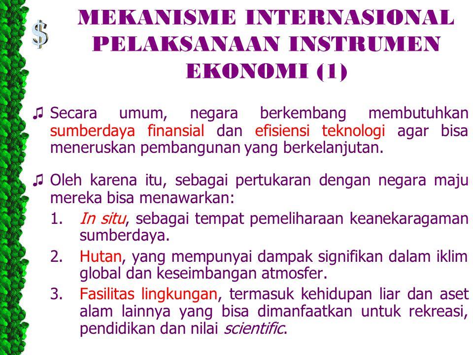 MEKANISME INTERNASIONAL PELAKSANAAN INSTRUMEN EKONOMI (1)