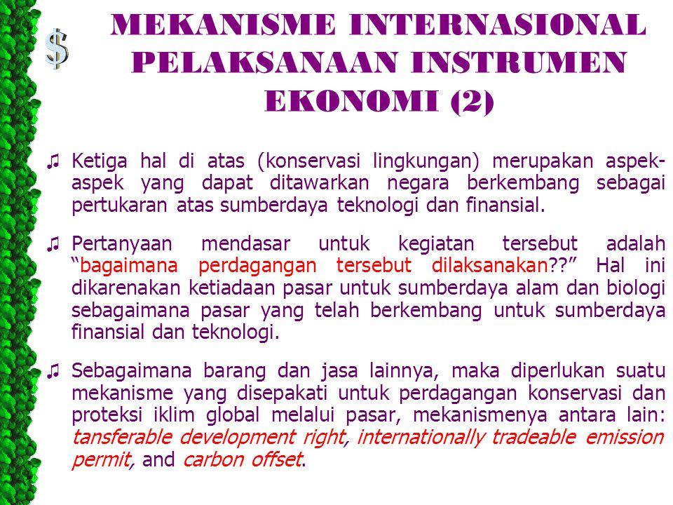 MEKANISME INTERNASIONAL PELAKSANAAN INSTRUMEN EKONOMI (2)