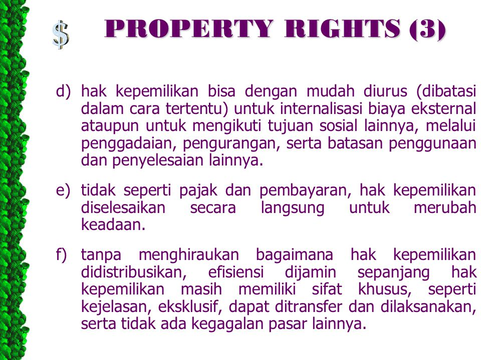 PROPERTY RIGHTS (3)