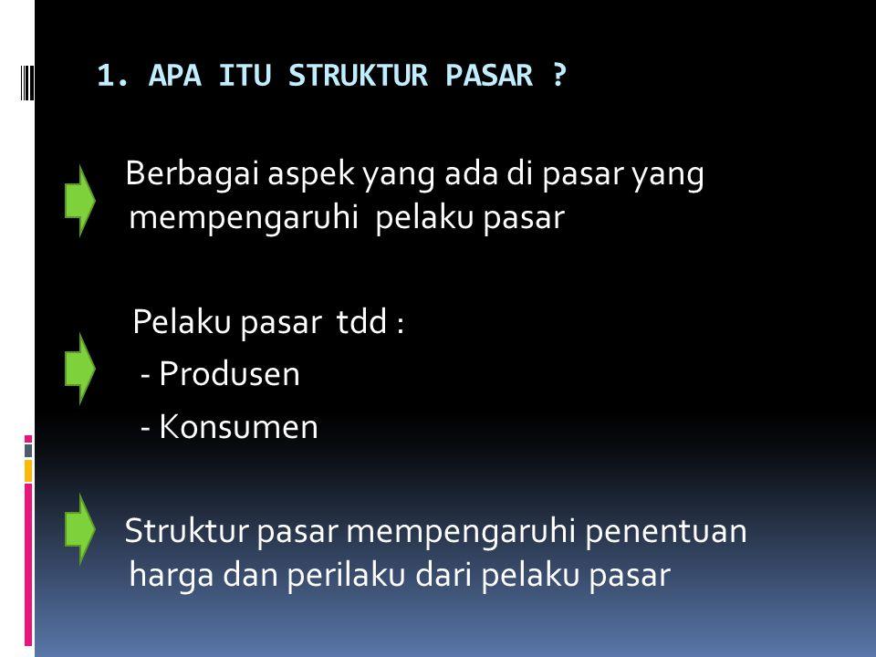 1. APA ITU STRUKTUR PASAR